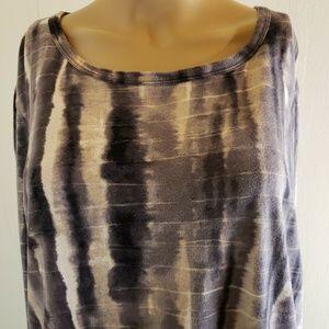 Simply Vera Vera Wang Black Gray Size XL Tie Dye L